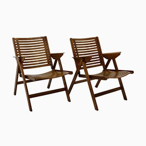 Mid-Century Slovenian Folding Armchairs by Niko Kralj, 1952, Set of 2