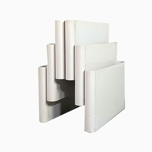 White Magazine Rack by Giotto Stoppino for Kartell, 1970s