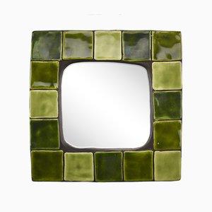 Specchio da parete in ceramica di Mithé Espelt, anni '60