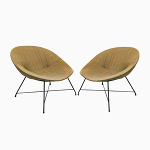 Mid-Century Lounge Chairs from Saporiti, Set of 2