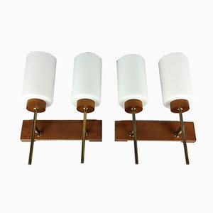 Vintage Scandinavian Double Sconces, 1960s, Set of 2