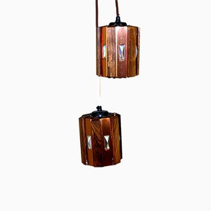 Danish Rosewood Ceiling Lamp by Werner Schou for Coronell Elektro, 1960s