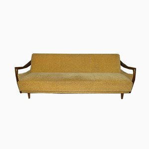 Mid-Century Mustard Yellow 3-Seat Sofa or Daybed, 1960s
