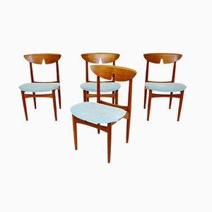 Dänische Teak Esszimmerstühle, 1960er, 4er Set