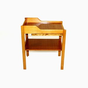 Swedish Teak and Beech Nightstand by C.A. Acking for Bodafors, 1960s