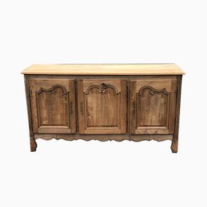 Antique French Bleached Oak Enfilade, Dresser Base or Sideboard