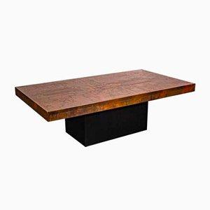 Tavolino da caffè in rame di Bernhard Rohne, anni '70