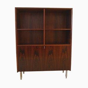 Vintage Danish Cabinetmaker Rosewood Book Cabinet