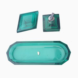 Art Deco Dressing Table Bathroom Set, Set of 3