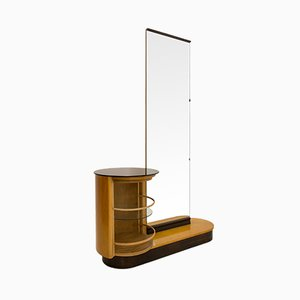 Vintage Mini Bar Dressing Table with Mirror by Jindřich Halabala for UP Závody