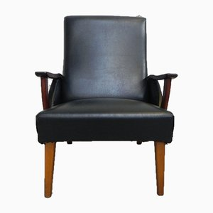 Vintage Danish Armchair with Teak Armrests, 1960s