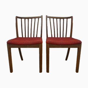 Vintage Model 90 Dining Chairs from Slagelse Møbelværk, Set of 2