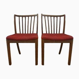 Vintage Model 90 Dining Chairs from Slagelse Møbelværk, Set of 2