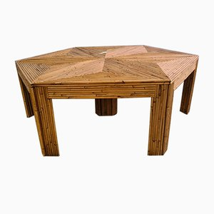 Rattan Puzzle Coffee Table, 1990s