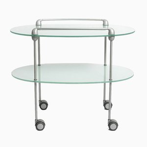 Minimalist Glass Myriades Serving Trolley by D'Orbino & Lomazzi for Ligne Roset, 1999