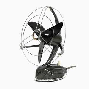 German Libelle Streamline Table and Wall Fan from Schoeller & Co., 1950s