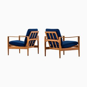 Danish Model Ek Easy Chairs by Illum Wikkelsø for Niels Eilersen, 1960s, Set of 2