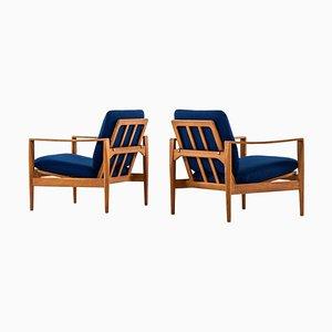 Danish Model Ek Easy Chairs by Illum Wikkelsø for Niels Eilersen, 1960s, Set of 2