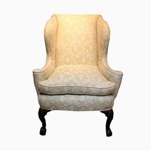 Mid-Georgian Style Walnut Wing Armchair