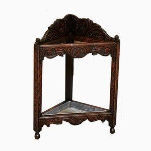 Late Victorian Oak Corner Stick Stand