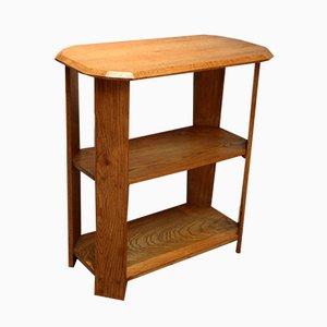 Solid Golden Oak 3-Tier Table, 1930s