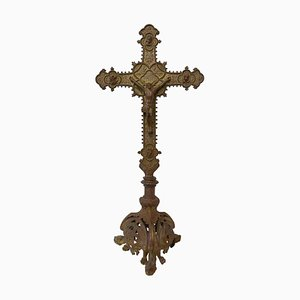 Late-19th Century French Crucifix on Pedestal