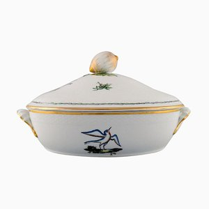 Royal Copenhagen Lidded Tureen in Hand-Painted Porcelain with Bird Motifs