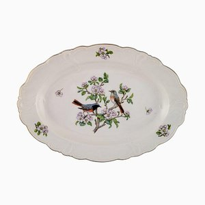 Royal Copenhagen Spring Porcelain Dish with Motifs of Birds and Foliage, 1980s