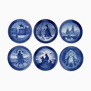Royal Copenhagen Christmas Plates, 1950s, Set of 6