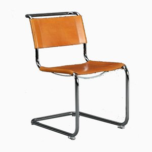 Cognac Leather S33 Cantilever Chair by Marcel Breuer for Thonet, 1990s