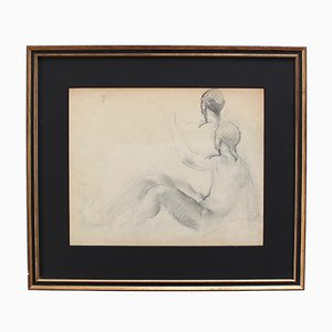 Posing Nude Male by Guillaume Dulac, 1920s