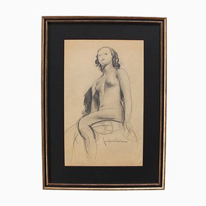 The Seated Nude by Guillaume Dulac, 1920s
