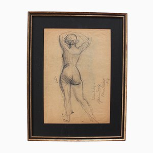 Standing Nude with Raised Arms by Guillaume Dulac, 1920s