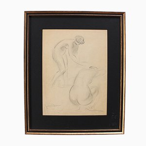 Two Nudes Posing von Guillaume Dulac, 1920er