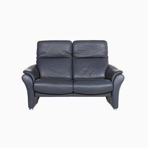 Blue Leather Ergoline 2-Seat Sofa from Willi Schillig