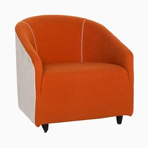 Orange White Fabric Armchair from Minotti