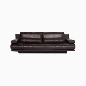Dark Brown Leather 6500 3-Seat Sofa by Kein Designer for Rolf Benz