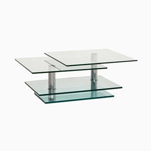 Glass and Silver K500 Coffee Table from Ronald Schmitt