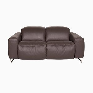 Brown Leather 2-Seat Sofa from Joop!