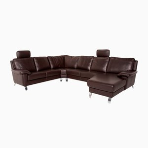 Dark Brown Leather Mattrixx Corner Sofa from Willi Schillig