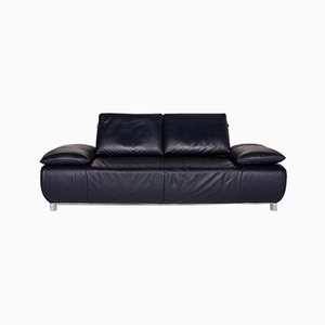 Dark Blue Leather Volare 3-Seat Sofa from Koinor