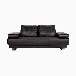 Black Leather Harry 2-Seat Sofa from Ewald Schillig
