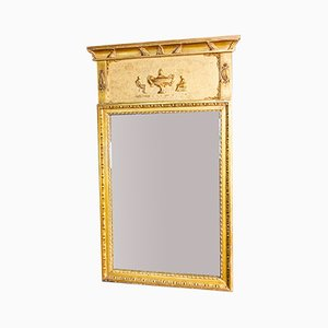 Antique Mirror with Golden Decorative Frame, 1800s