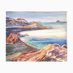 Landscape - Original Drawing - 1960s 1960s