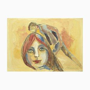 The Kiss - Mixed Media by Mino Maccari - 1960s 1960s