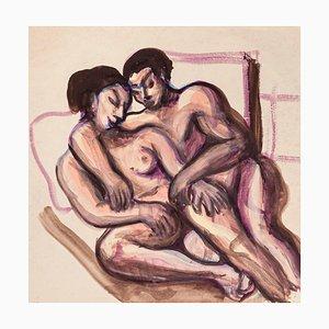Lovers - Original Drawing in Mixed Media - 1950 ca 1950 ca.