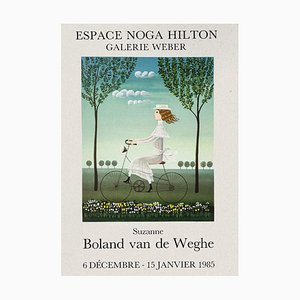 Suzanne Boland Van de Weghe's Ausstellung - Original Lithografie - 1985 1985