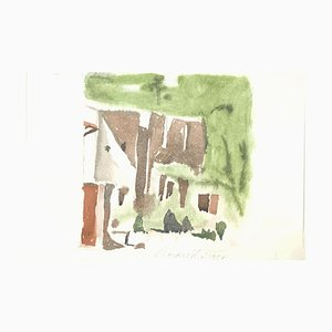 Green Landscape - Vintage Offset Print after Giorgio Morandi - 1973 1973