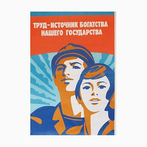 Labour is the Source of Wealth - Triptych | Russia | 1983