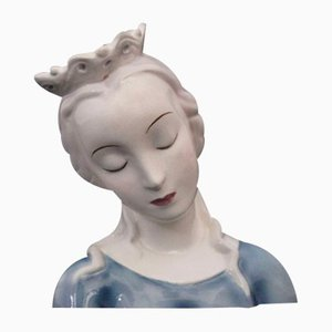 Ceramic Bust of Madonna from Goldscheider, 1940s